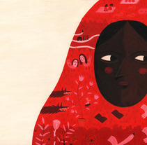 Pashmina gorria. Un proyecto de Ilustración de Leire Salaberria - 10-07-2013