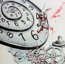 Alicia en el Pais de las Maravillas. Um projeto de Ilustração de Pedro Fernandez Fernandez - 11-07-2013