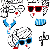 Women and Glasses. A Design, Illustration, and Advertising project by Alejandra Morenilla - 02-09-2013