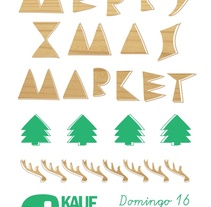cartel merry xmas market. A Design&Illustration project by Javier Llanes Ballester         - 17.09.2013