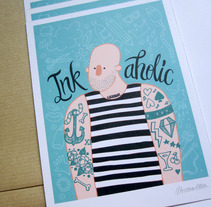 """Inkaholic"" for Ink lovers. A Design, Illustration, and Advertising project by Alejandra Morenilla - 09-10-2013"