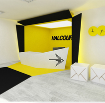 Halcourier headoffice. A Design, Installations, and 3D project by Mar Falcón         - 05.11.2013