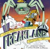 FREAKLAND 2013. A Design&Illustration project by el abrelatas  - Apr 01 2013 12:00 AM