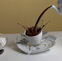 CHOCOLATE & CHURROS. Um projeto de Ilustração, Fotografia e 3D de noelia lozano cardanha         - 24.11.2013