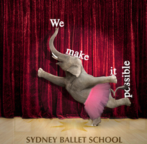 Sydney Ballet School . A Design, and Advertising project by Alejandro Vera Cobos         - 25.11.2013