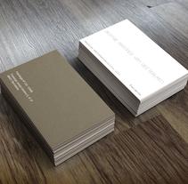 Tarjetas de visita para psicóloga.. Um projeto de Design de David Presa Altuna         - 26.11.2013
