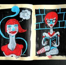 CUADERNISMOS: Bocetos y tal. Un proyecto de Diseño, Ilustración y Publicidad de Del Hambre  - 03-12-2013
