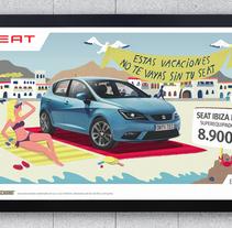 SEAT IBIZA ITECH. Un proyecto de Diseño, Ilustración y Publicidad de Adalaisa  Soy - Sábado, 04 de mayo de 2013 00:00:00 +0200