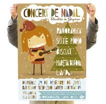 Concert de Nadal. A Design, Illustration, and Advertising project by Rafa Garcia  - Dec 13 2013 12:00 AM