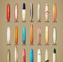 Classics longboards from the 60´s. A Illustration project by Txema Mora - 16-12-2013