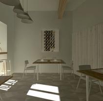 restaurant render. Un proyecto de Diseño, 3D, Diseño de interiores y Escenografía de Maite Abarizketa Larrañaga - Lunes, 06 de enero de 2014 00:00:00 +0100