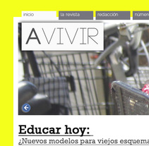 Proyecto Revista Avivir. A Design, UI / UX, Editorial Design, Graphic Design&Interactive Design project by Maria Luisa Rivero Rodriguez - Jan 21 2014 12:00 AM