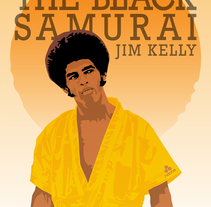 The Black Samurai. Jim Kelly.. A Illustration project by Naone  - Feb 07 2014 12:00 AM