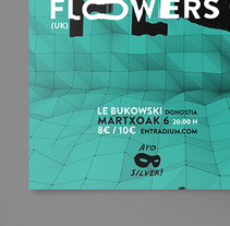 A Concert Poster: Ginnels + Flowers. A Graphic Design project by Asier Bueno         - 26.02.2014