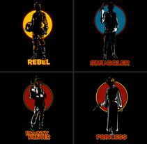Tracy Wars - Camisetas (Dick Tracy meets Star Wars). Un proyecto de Ilustración de Chema Castaño - 04-03-2014