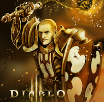 Diablo 3, Cruzado (Fanart). A Illustration, Character Design, and Game Design project by Arturo Mata - 12-03-2014