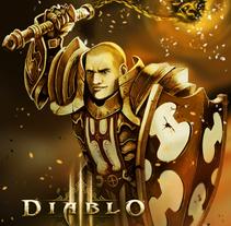 Diablo 3, Cruzado (Fanart). A Game Design, Character Design&Illustration project by Arturo Mata - 03.13.2014