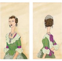 Fallera. A Illustration project by Sara I. Toribio - Mar 15 2014 12:00 AM