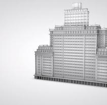 Proyecto Plaza de España 3D. A Motion Graphics, 3D, Br, ing&Identit project by Borja Peña Granados         - 25.03.2014