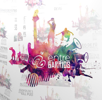 #entreBARRIOS 2014 fest. A Br, ing, Identit, and Graphic Design project by MNOstudios         - 27.03.2014