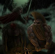 Gotrek and Felix. A Illustration project by Carlos Jobani Alguacil         - 31.03.2012