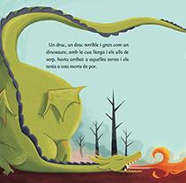 La llegenda de Sant Jordi i el drac. Un proyecto de Ilustración de Núria  Aparicio Marcos - 02-04-2014