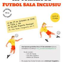 Cartel Torneo Inclusión. Un proyecto de Diseño gráfico de Carme Carrillo Cubero         - 10.08.2012