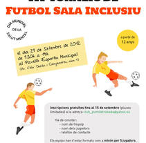 Cartel Torneo Inclusión. Um projeto de Design gráfico de Carme Carrillo Cubero         - 10.08.2012