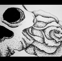 Rose&skull tattoo. A Illustration project by Killian López         - 13.02.2014