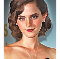 Emma Watson - Cartoon. A Illustration project by Enrique Valles         - 25.04.2014