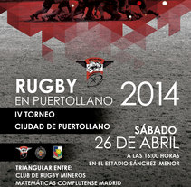 Cartelería club de Rugby Mineros Puertollano. A Design project by Montse M.M.         - 10.05.2014