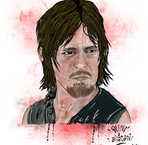 Daryl Dixon. A Illustration project by Mariano Isidro - 12-05-2014
