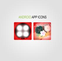 Android APP Icons -Diseño-. Um projeto de Ilustração e Design gráfico de Eloy Pardo Rouco         - 14.05.2014