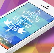 Summer flät. Um projeto de Design, Publicidade, Direção de arte, Br, ing e Identidade, Gestão de design, Design gráfico e Tipografia de Carlos Parra Ruiz - 18-05-2014