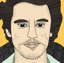James Franco portrait. Un proyecto de Ilustración de Fernando Pérez         - 21.05.2014