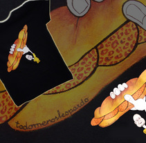 Camiseta pintadas a mano. Um projeto de Design de personagens e Artesanato de todomenosleopardo®         - 28.05.2014
