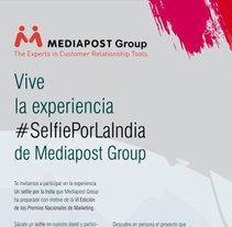 Roll Up Mediapost Group #SelfiePorLaIndia. Um projeto de Design, Br, ing e Identidade, Design gráfico e Marketing de José M. Miguel         - 13.05.2014