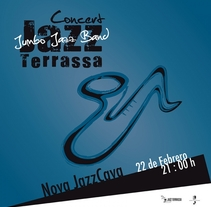 Concierto de Jazz en Terrassa. A Illustration, Graphic Design, T, and pograph project by Albert Escamilla Garcia - 03-06-2014
