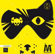 Invitación: AULLIDOS/MAULLIDOS. Um projeto de Design, Ilustração, Instalações, Design gráfico e Tipografia de Elvira Rojas         - 12.06.2014