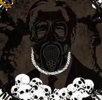 BLOODY PHOENIX + EL HAMBRE | poster. Un proyecto de Diseño, Ilustración, Publicidad y Diseño gráfico de alejandro escrich - 22-09-2013
