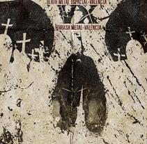 BLACK PANDA + AUTOMURO + ARTEFACTO IMPÍO + VX | poster. Un proyecto de Diseño, Ilustración, Publicidad y Diseño gráfico de alejandro escrich - 01-12-2013