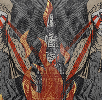 ÓSSERP + ENCABRONATION + CANNIBAL FEROX | poster. Un proyecto de Diseño, Ilustración, Publicidad y Diseño gráfico de alejandro escrich - 15-02-2014