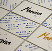 Marina mg tarjetas.. A Design, Br, ing, Identit, and Graphic Design project by Marina Muñoz García         - 29.06.2014