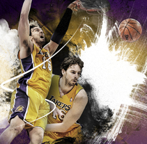 Pau Gasol. A Advertising, Art Direction, and Graphic Design project by Xavier Julià - 18-08-2013