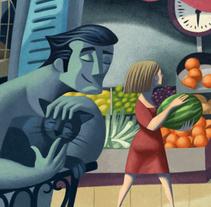 da nicola mural 1. A Illustration project by David de Ramón         - 01.07.2014