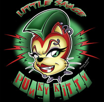 """Little Savage Punky Kitty"" Ilustración para camisetas y pegatinas. A Illustration project by Jonas Jorna - Jul 02 2014 12:00 AM"