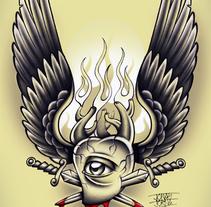 Winged Bloody Heart. Un proyecto de Ilustración de Jonas Jorna - Miércoles, 02 de julio de 2014 00:00:00 +0200