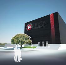 3D RENDER | Propuesta de nueva fachada para IBESA. Um projeto de Design, 3D e Arquitetura de MNOstudios         - 02.07.2014