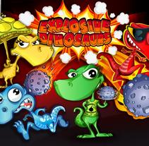 Explosive Dinosaurs. Un proyecto de Ilustración, Animación, Diseño de personajes, Diseño de juegos y Post-producción de Jorge de Juan - 03-07-2014