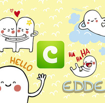 COCO Stickers - Edde. A Illustration, and Character Design project by Alejandra Morenilla - 30-06-2014